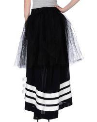 Y-3 Long Skirt black - Lyst