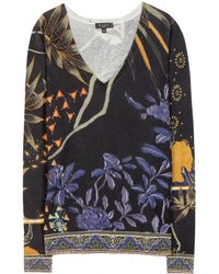 Etro Silk and Cashmere Sweater - Lyst
