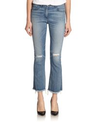 3x1 Distressed Cropped Jeans - Lyst