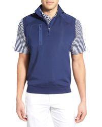 Bobby Jones - 'crawford - Xh20' Stretch Quarter Zip Golf Vest - Lyst