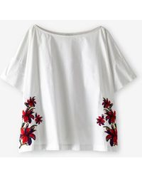 Suno Simple Boxy Top white - Lyst
