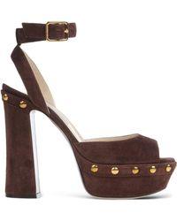 L'Autre Chose | Studded Suede Sandals | Lyst