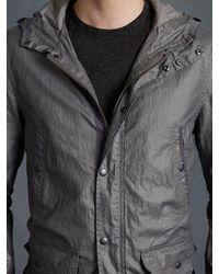 John Varvatos Hood Jacket with Bellowed Pockets - Lyst