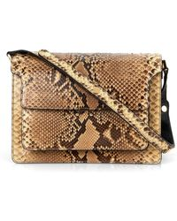 Marni Trunk Python Shoulder Bag - Lyst