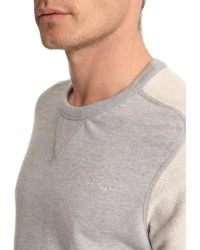 G-Star RAW Grey Sweater With Contrasting Sleeves - Lyst
