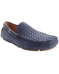 Kenneth Cole Blue Woven Leather Picture Perfect Driving Loafers - Lyst