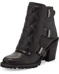 Marc By Marc Jacobs Quilted Moto Ankle Bootie - Lyst