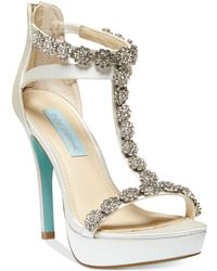 Betsey Johnson Blue by Adore Platform Evening Pumps - Lyst
