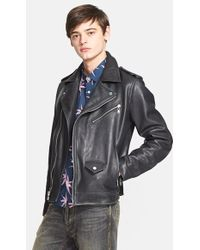 Marc By Marc Jacobs - 'martin' Leather Moto Jacket - Lyst