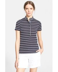 Tory Burch 'Lidia' Stripe Polo - Lyst