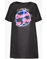 French Connection Dreams Are Free Shift Dress black - Lyst
