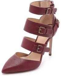Joe's Jeans - Giddy Buckle Court Shoes - Wine - Lyst