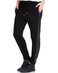 Calvin Klein Jeans Slim Mixed-media Jogger Pants - Lyst