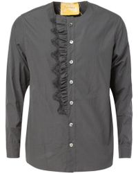 By Walid - Frill Placket Shirt - Lyst