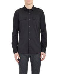 Michael Kors Poplin Military Shirt - Lyst