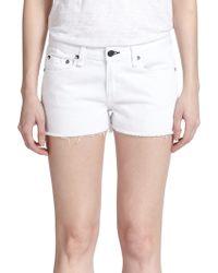 Rag & Bone/JEAN Cut-Off Denim Shorts - Lyst