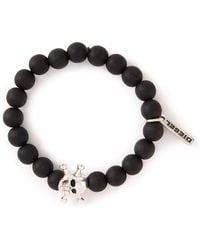 Diesel Black Arcy Bracelet - Lyst