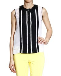 Moschino Sleeveless Organza Bi Color Top - Lyst
