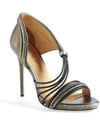 L.A.M.B. Women'S 'Karoline' Metallic Leather Platform Sandal - Lyst