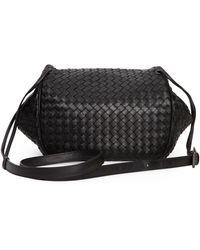 Bottega Veneta Intrecciato Small Flap Messenger Bag - Lyst