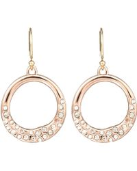Alexis Bittar Rose Goldtone Pave Circle Earrings - Lyst