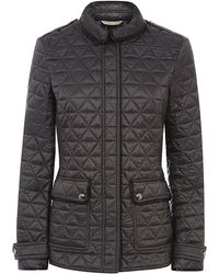 Burberry Brit - Leather Detail Quilted Jacket - Lyst