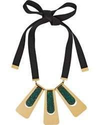 Marni Goldplated Resin Necklace - Lyst