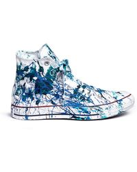 Rialto Jean Project - One Of A Kind Hand-painted Splash High Top Sneakers - Sz 39 - Lyst
