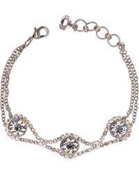 Ted Baker - Stelle Swarovski Crystal White Bronze Plated Chain Bracelet - Lyst