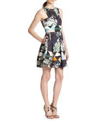 MSGM Printed Fit-&-Flare Dress - Lyst
