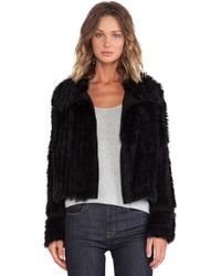 Marc By Marc Jacobs Abbey Rabbit Fur Jacket - Lyst