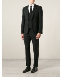 Emporio Armani Formal Three Piece Suit - Lyst
