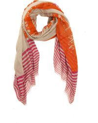 Yigal Azrouël Abstract Scarf In Clementine Multi orange - Lyst