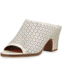 Gentle Souls - Post Laser-cut Low-heel Mule - Lyst