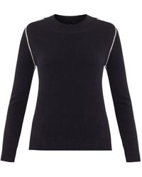 Chinti & Parker Contrast-Seam Cashmere Sweater - Lyst