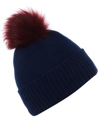 Helen Moore - Pompom Cashmere Beanie Hat - Lyst