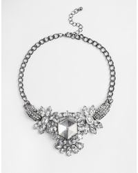 Girls On Film - Large Jewelled Statement Necklace - Lyst
