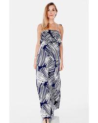 Imanimo   Ruffle Bandeau Maxi Maternity Dress   Lyst