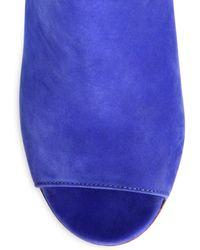 Maison Margiela Suede Luciteheel Ankle Boots - Lyst