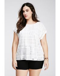 Forever 21 Burnout Geo Pattern Top - Lyst