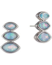 Judith Jack - Frosted Dreams Blue Opal Earrings - Lyst