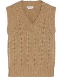 Miu Miu Brown Cashmere Sweater - Lyst