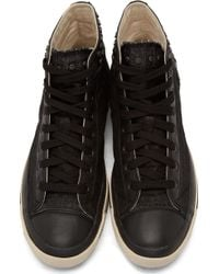 Diesel Black Denim High_top Exposure Sneakers - Lyst