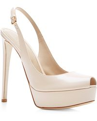 Sergio Rossi Midtown Polished-leather Platform Sandals - Lyst