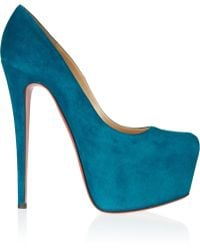 Christian Louboutin - Daffodile 160 Suede Platform Court Shoes - Lyst