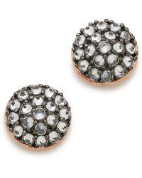 Katie Rowland Java Mini Stud Earrings - Rose Gold/Lavender - Lyst