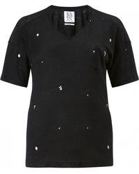 Zoe Karssen | Mouldy Box-fit V-neck T-shirt | Lyst