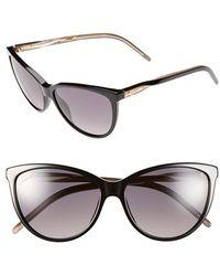 Gucci 58Mm Cat Eye Sunglasses - Lyst