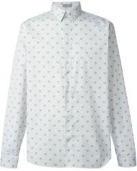 Dior Homme Pinstriped Heart Print Shirt - Lyst