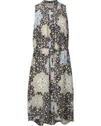 Sea Sleeveless Shirt Dress - Lyst